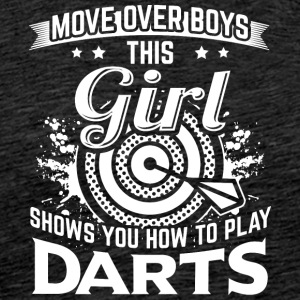 DART MOVE OVER - Premium T-skjorte for menn