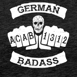 German badass germany football hooligan tattoo - Men's Premium T-Shirt