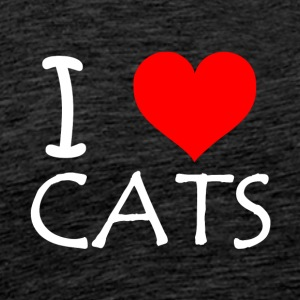 I Love Cats - Männer Premium T-Shirt