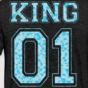 KING 01 - Blue Edition - T-shirt Premium Homme