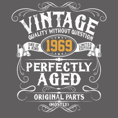 Voorkeur 50e verjaardag - Vintage 1969 50 jaar cadeau Mannen premium T #BF01
