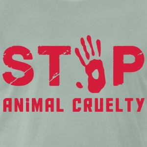 Stop for animal brutality - Men's Premium T-Shirt