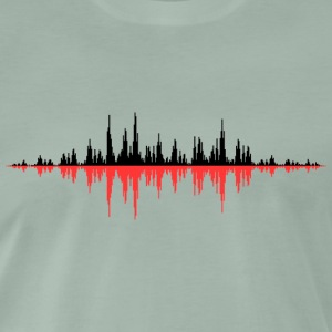 Red Sound Wave - Herre premium T-shirt