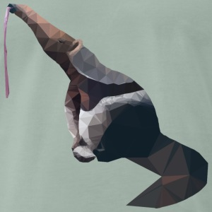 Lowpoly anteater with outstretched tongue