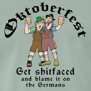 Funny Oktoberfest German Drinking - Men's Premium T-Shirt