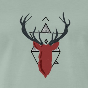 geometric deer - Men's Premium T-Shirt