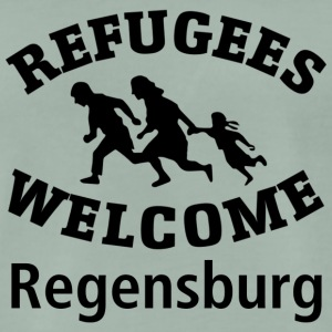 Refugees.Welcome.Regensburg - Men's Premium T-Shirt