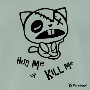 Happy tree friends Hug me or kill me - Dark cat' - T-shirt Premium Homme