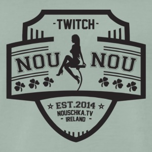 Nouschkasplay Team logo Twitch Black_01 - Mannen Premium T-shirt