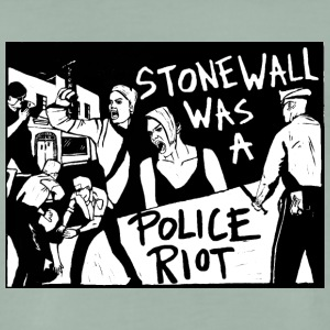 Stonewall was a police riot - T-shirt Premium Homme