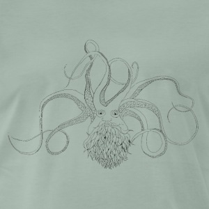 Bearded Octopus svart - Premium T-skjorte for menn