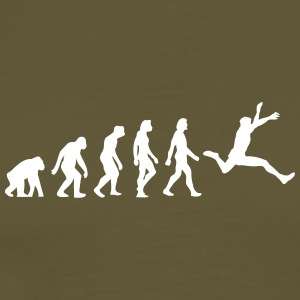 The Evolution Of Long Jump - Men's Premium T-Shirt