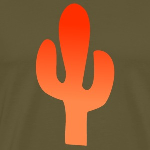 Orange Cactus - Herre premium T-shirt