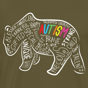 Papabear Autism Awareness Birthday Shirt - Men's Premium T-Shirt