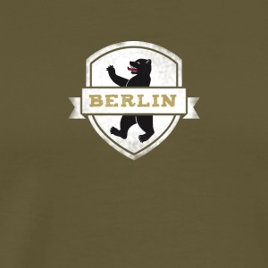 Berlin coat of arms bears capital travel souvenir wall - Men's Premium T-Shirt