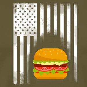 amerikansk burger fast food hamburger flagg usa esse - Premium T-skjorte for menn