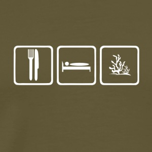 Eat sleep corals without text - Men's Premium T-Shirt