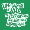 Life begins at 40. The rest was just a practice - Mannen Premium T-shirt