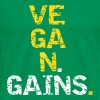 Vegan Gains - Premium-T-shirt herr