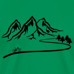 Mountainbike Trail - Premium-T-shirt herr