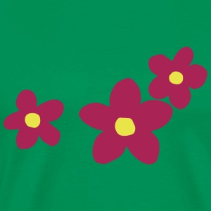 Flower Power two-color floral design - Men's Premium T-Shirt