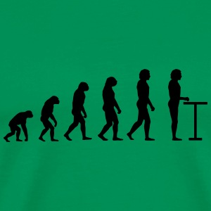 Evolution à la table de bar - T-shirt Premium Homme