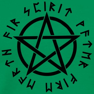 Pentagram, pentacle, magic, symbol, runen - Männer Premium T-Shirt
