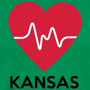 heart Kansas - Men's Premium T-Shirt