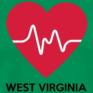 Hjärta West Virginia - Premium-T-shirt herr