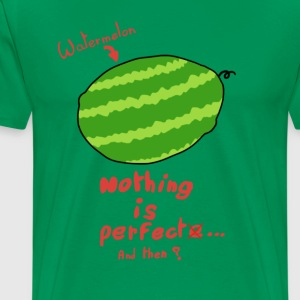 Vandmelon - Intet er perfekt - Herre premium T-shirt