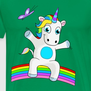 Unicorn sitting on rainbow - rainbow unicorn - Men's Premium T-Shirt