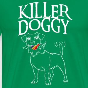 Killer Doggy Unicorn - Unicorn Hvit - Premium T-skjorte for menn