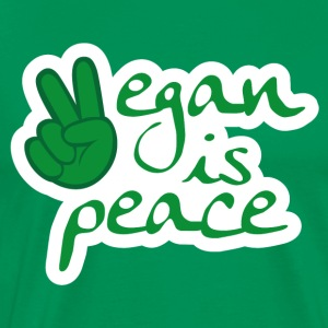 Vegan is Peace - gift for vegans / vegetarians - Men's Premium T-Shirt