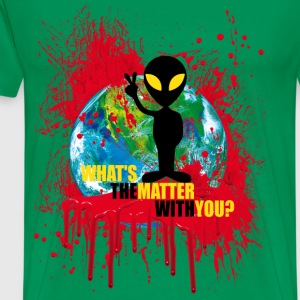 Wondering Alien - Männer Premium T-Shirt