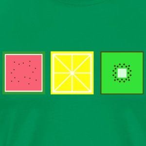 DIGITAL FRUITS - Pixel Melon - Lemon - Kiwi - Men's Premium T-Shirt
