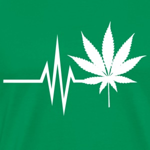 My Heart Beats For Cannabis - Marijuana THC CBD - Men's Premium T-Shirt