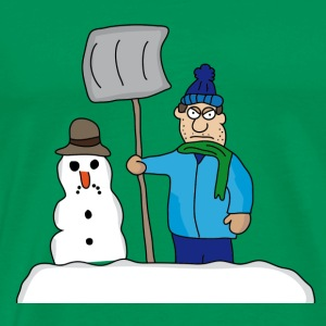 winter | snö | Vintertid | Snowman | is - Premium-T-shirt herr