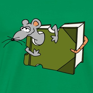 Book rat mouse rat comic eating gift - Men's Premium T-Shirt