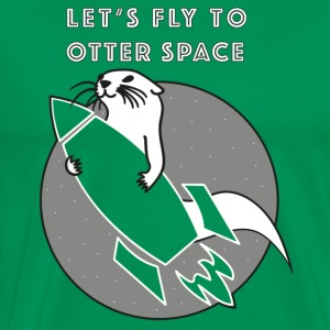 LET'S FLY Otter SPACE ROCKET Transparent - Premium-T-shirt herr