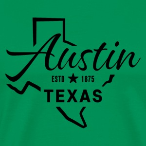 Austin Texas USA - Premium T-skjorte for menn