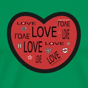 Beaucoup Love Heart spreadshirt - T-shirt Premium Homme