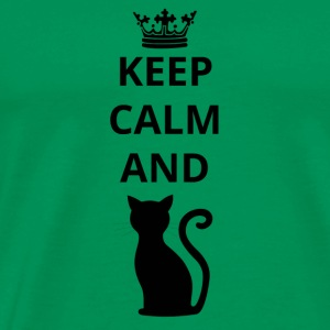 gift keep calm and cat png - Men's Premium T-Shirt