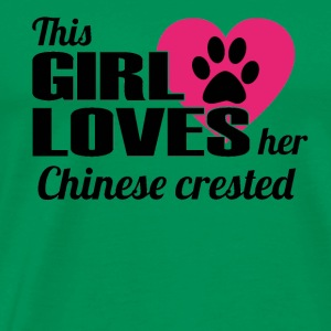 DOG THIS GIRL LOVES GIFT Chinese crested - Men's Premium T-Shirt