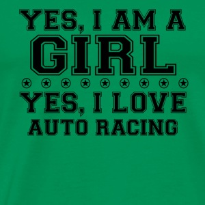 yes gift on a girl love bday gift AUTORACCING - Men's Premium T-Shirt