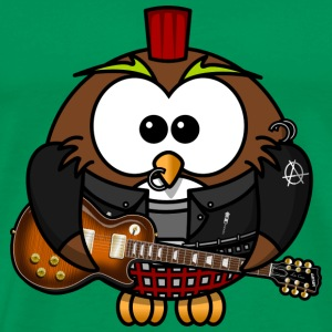 Owl as punk with guitar - Men's Premium T-Shirt