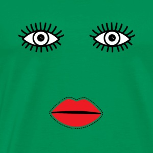 Scary eyes and red lips t-shirt - Men's Premium T-Shirt