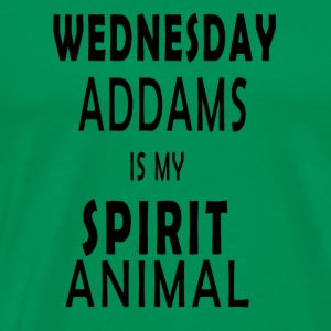 Wednesday Addams is my Spirit animal - Men's Premium T-Shirt