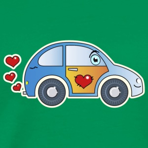 Kids car toy car heart colorful cheerful children - Men's Premium T-Shirt