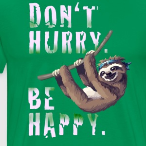 Sloth Slow chilling sleep lazy sloth Nerd spruc - Men's Premium T-Shirt