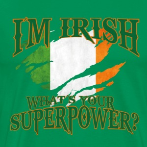 Irland! Irsk! St. Patricks Day! - Premium T-skjorte for menn